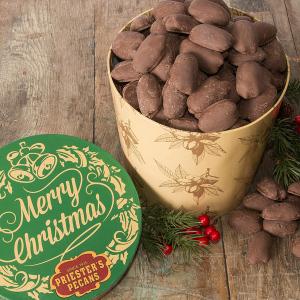 Merry Christmas Gift Tub - Milk Chocolate Pecans