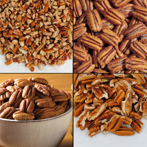 Pecans and Nuts (2 lbs. Economy Packs) - Roasted/Salted Mammoth Pieces (Economy Pack)