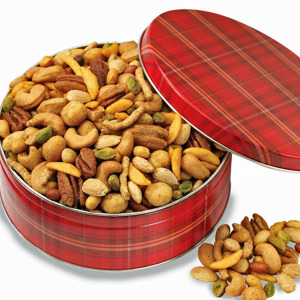 Plaid Tidings Snack Mix